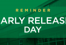 Today is an Early Release Day