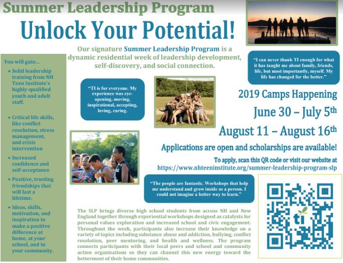 2019 Summer Leadership Program with the NH Teen Institute